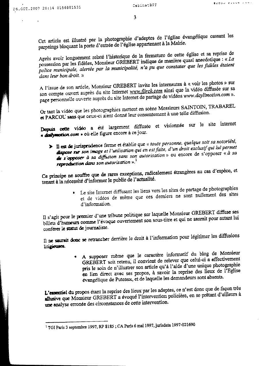 Assignation devant le TGI de Paris : des policiers municipaux de Puteaux portent plainte contre ...